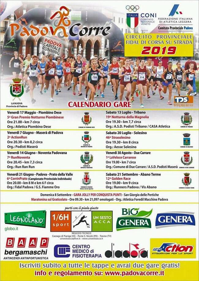 Calendario Podistico Veneto.Circuito Padova Corre 2019 Podisti Tagliolesi